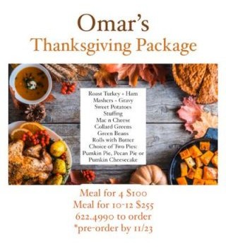 THANKSGIVING AT OMAR'S!